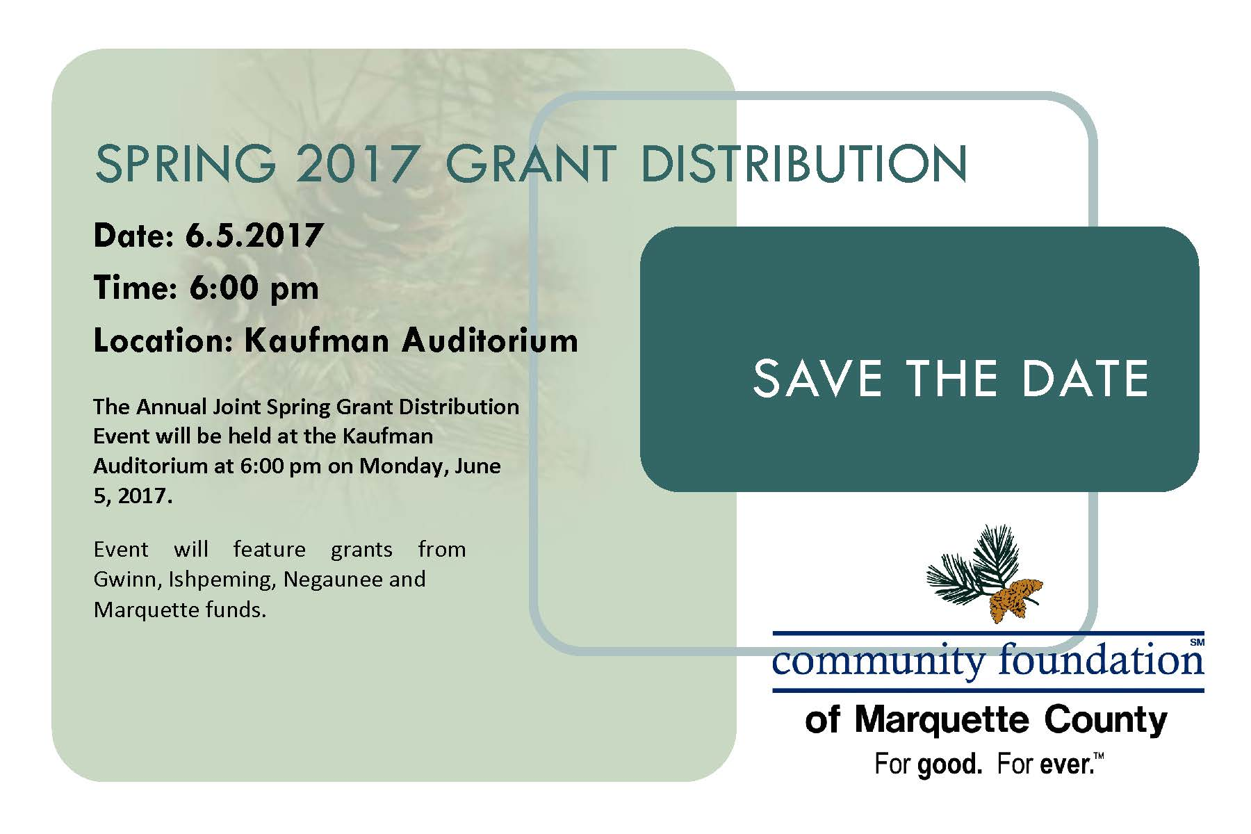 Michigan marquette county gwinn - Spring Grant Distribution June 5 2017